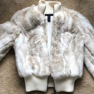 Faux Fur Fashion Coat Inc. Petite White Jacket